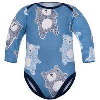 Body niemowlęce, Dziecięce body długi rękaw Granatowe - Koala