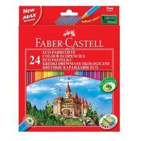 Kredki, Kredki ołówkowe 24kol. Faber-Castell Eco + temp. 120124