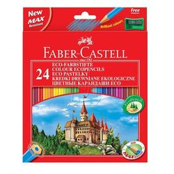 Kredki ołówkowe 24kol. Faber-Castell Eco + temp. 120124