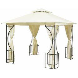 Pawilon ogrodowy, altana, namiot, ścianki boczne, 300x400cm, beżowy
