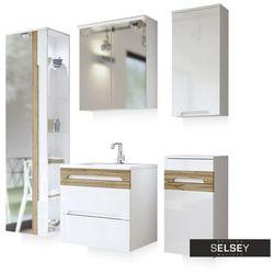 SELSEY Zestaw mebli łazienkowych Warner z lustrem mały