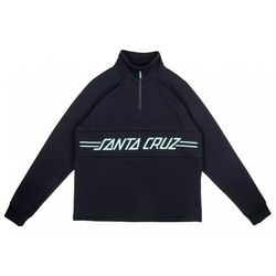 bluza SANTA CRUZ - Pinline 1/4 Zip Crew Black (BLACK) rozmiar: 8
