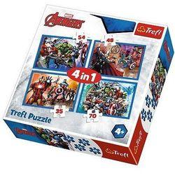 Puzzle 4w1 Nieustraszeni Avengersi TREFL