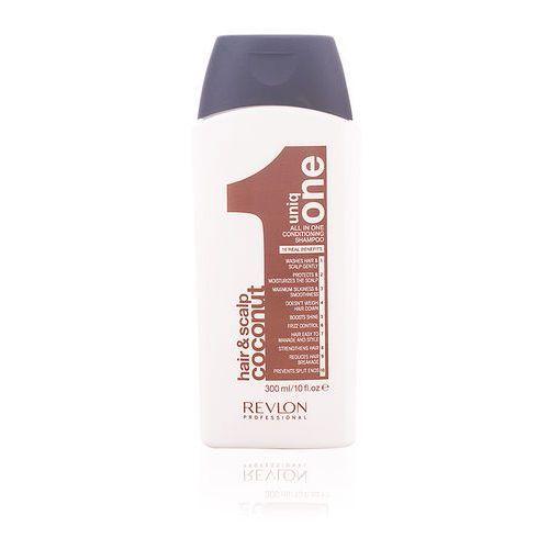 Mycie włosów, Revlon Uniq One, szampon z balsamem, kokosowy, 10 korzyści, 300ml