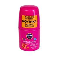 Kosmetyki z filtrem dla dzieci, Nivea Sun Kids Protect & Care Coloured Roll-On SPF50+ preparat do opalania ciała 50 ml dla dzieci Pink
