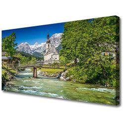 Obraz na Płótnie Kościół Most Jezioro Natura