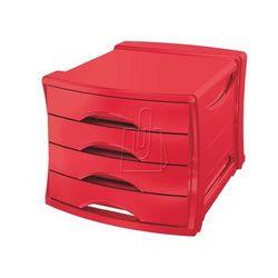 Pojemnik z 4 szufladami ESSELTE Europost VIVIDA czerwony