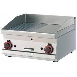 Płyta grillowa 1/2 gładka 1/2 ryflowana | 595x450mm | 9000W | 600x600x(H)280mm
