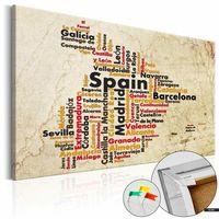 Tablice szkolne, SELSEY Tablica korkowa Hiszpańskie miasta (ES)