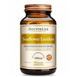 Doctor Life, Sunflower Lecithin 1200 mg, 100 kaps
