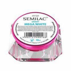 Semilac UV Gel Smart, żel do paznokci, Mega White, 50ml