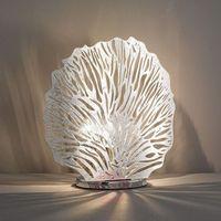 Lampy stołowe, Posrebrzana lampa stołowa Coral wysokość 32 m