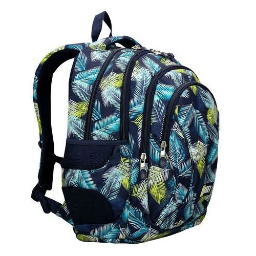 Tornistry i plecaki szkolne, ST.RIGHT Plecak szkolny 4 komory Tropical Leaves