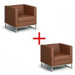Fotel Cube 1+1 GRATIS, brązowy Włóż do koszyka jedną sztukę, drugą sztukę wyślemy automatycznie gratis. Akcja trwa do wyprzedania zasobów.