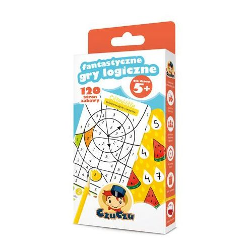 Hobby i poradniki, CzuCzu Fantastyczne gry logiczne 5+ - Bright Junior Media OD 24,99zł DARMOWA DOSTAWA KIOSK RUCHU (opr. kartonowa)
