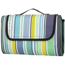Koc piknikowy plażowy 130x170 cm mata kolorowe pasy