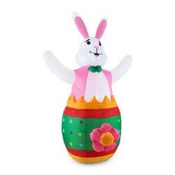 oneConcept Funny Bunny Samonadmuchujący zając wielkanocny Ozdoba wielkanocna 180 cm Dmuchawa LED