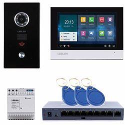 Leelen LEELEN Wideodomofon TCPIP 7cali czarny dotykowy ekran / pamięć / czytnik (No15E + V31) No15E_V3S_V31 - Rabaty za ilości. Szybka wysyłka. Profesjonalna pomoc techniczna.