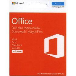 Program Microsoft Office 2016 dla Użytkowników Domowych i Małych Firm PL 32/64-bit Medialess/zdrapka (T5D-02855) Szybka dostawa! Darmowy odbiór w 21 miastach!