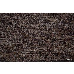 Chodnik bawełniany ręcznie tkany czarno-brązowy 65x100 cm