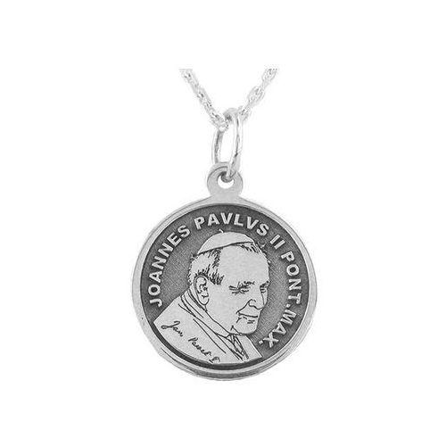 Pozostała biżuteria, Medalik ze srebra z świętym janem pawłem ii, wec-s-med-jp-ii-6