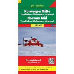 Norwegia cz.2 - centralna TRONDHEIM mapa 1:250 000 Freytag & Berndt (opr. twarda)