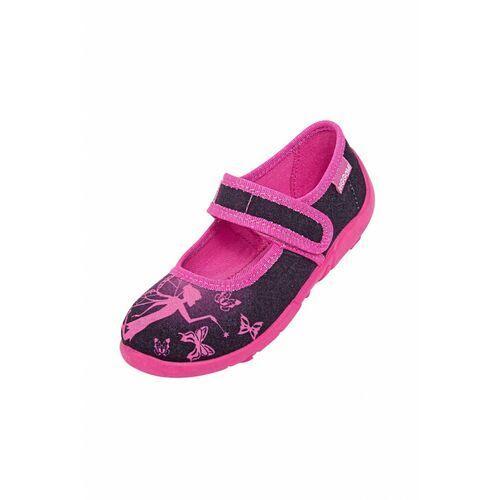 Obuwie domowe dziecięce, Kapcie dziewczęce różowo-czarne 3Z38BA Oferta ważna tylko do 2031-09-09