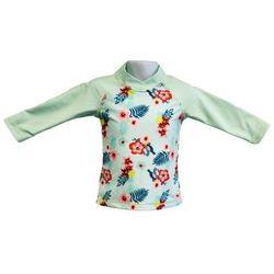 Bluzka kąpielowa koszulka dzieci 120cm filtr UV50+ - Mint Floral \ 120cm