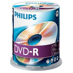 DVD-R Philips [ cake box 100 | 4.7GB | 16x ]