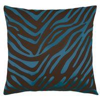 Poduszki, Bellatex Poduszka - jasiek Leona – zebra brązowa, niebieska, 45 x 45 cm