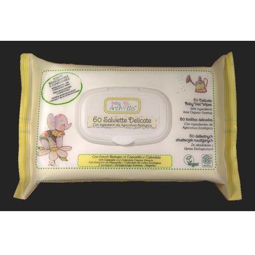 Chusteczki dla niemowląt, Pierpaoli Anthyllis Chusteczki do pielęgnacji skóry dziecka 3w1 Chusteczki do pielęgnacji skóry dziecka 3w1