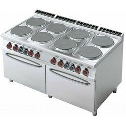 Kuchnia elektryczna z dwoma piekarnikami | śr. 315mm | 8x3500W | 1600x900x(H)900mm