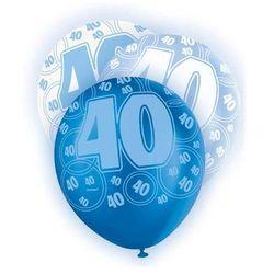 """Balony lateksowe z nadrukiem """"40"""" - mix - 30 cm - 6 szt."""