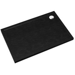 Brodzik akrylowy Sched-Pol Atla prostokątny 80 x 100 x 4,5 cm czarny