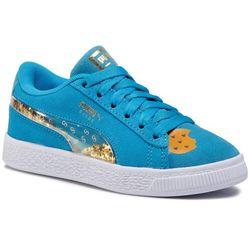 Sneakersy PUMA - Sesame Str50 Suede Statement Ps 370383 01 Bleu Azur/Puma White