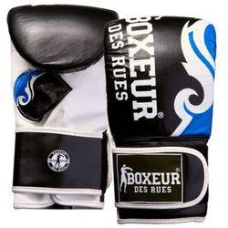 Rękawice bokserskie BOXEUR BXT-5139 (rozmiar L) Czarno-niebieski