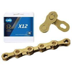 Łańcuch KMC X12 Ti-N Złoty, 126 ogniw 12-rz