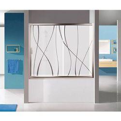 Sanplast TX kabina nawannowa wnękowa 140 cm srebrny błyszczący/sitodruk W15 D2-W/TX5b-140 600-271-1540-38-231