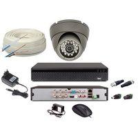 Zestawy monitoringowe, Zestaw monitoring 1 kamera HD + Zasilanie + Akcesoria + Przewód