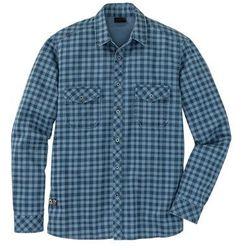 Koszula z długim rękawem Slim Fit bonprix niebieski dżins - ciemnoniebieski w kratę