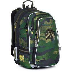 Pojemny plecak szkolny w militarne moro Topgal LYNN 21018 B