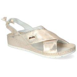 Sandały Lemar 50056 Złote przecierane