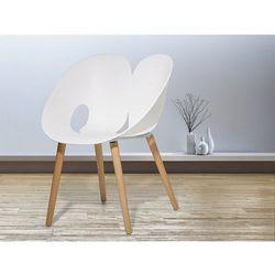 Krzesło białe - Krzesło do jadalni, do salonu - krzesło kubełkowe - MEMPHIS