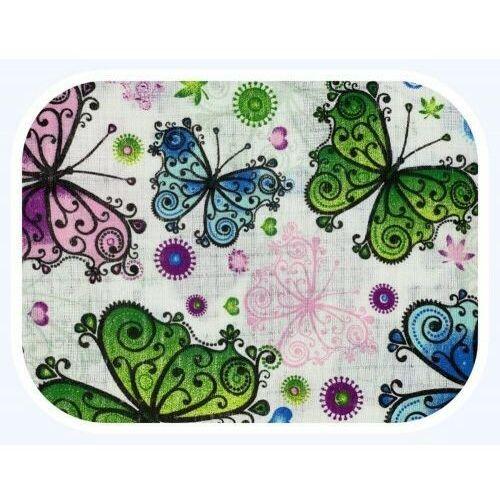 Pieluchy tetrowe, Pieluszka tetrowa, wielorazowa, kolorowa we wzorki kolorowe motyle 100% bawełna Ega