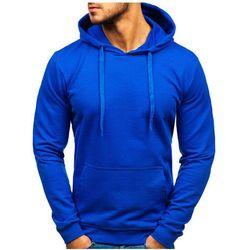 Bluza męska z kapturem niebieska Bolf 5361
