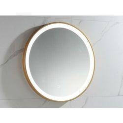 Okrągłe lustro łazienkowe z podświetleniem LED NUMEA złote - Dł. 60 x Gł. 3.5 x Wys. 60