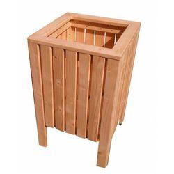 Wysoka drewniana kwadratowa donica ogrodowa - Elisa