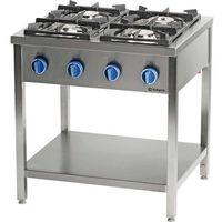 Piece i płyty grzejne gastronomiczne, Kuchnia gastronomiczna gazowa 4-palnikowa