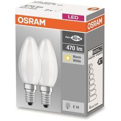 Żarówka LED OSRAM 4058075803947, E14, 4 W = 40 W, 470 lm, 2700 K, ciepła biel, 230 V, 10000 h, 2 szt.