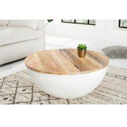 INVICTA stolik kawowy INDUSTRIAL STORAGE - 70cm, mango, biały, aluminium